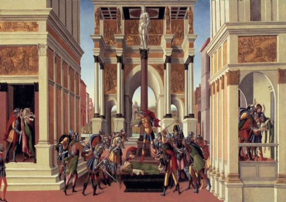 Botticelli, Sandro: The History of Lucretia. Fine Art Print/Poster. Sizes: A4/A3/A2/A1 (001409)